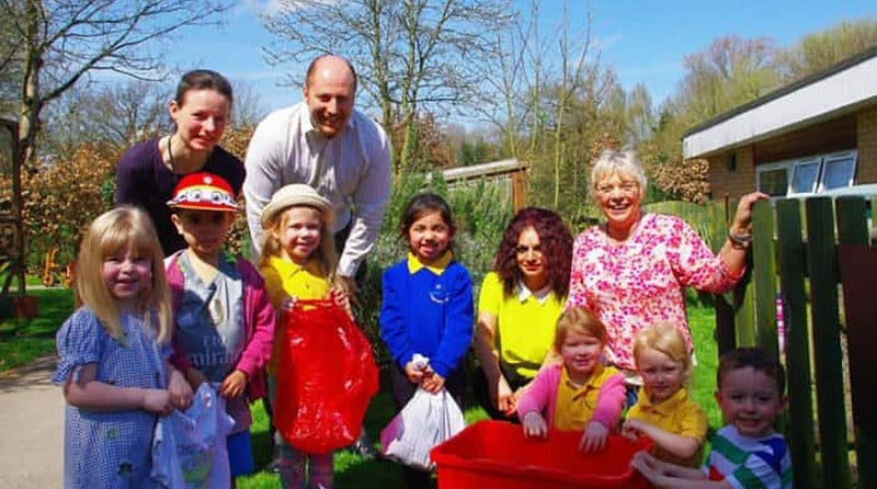 Warwick Nursery comes first place in a recycling competition