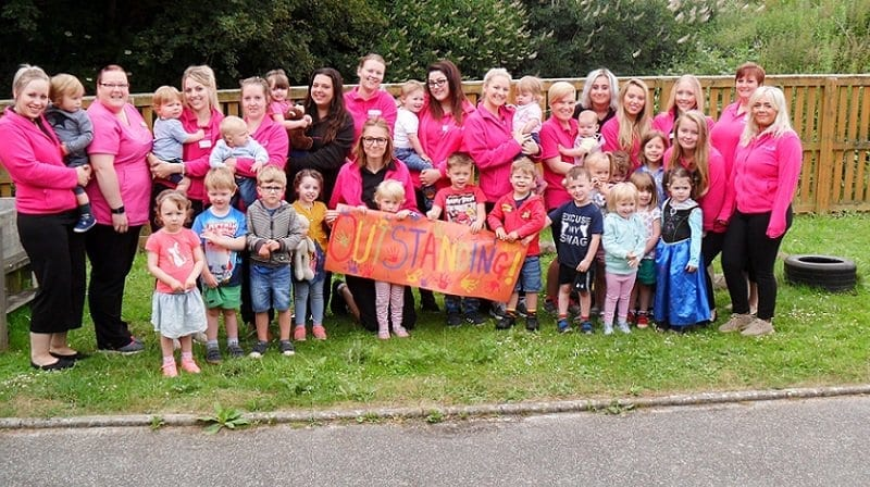 Outstanding! Tops Day Nursery on the Isle of Wight celebrates highest rating from Ofsted
