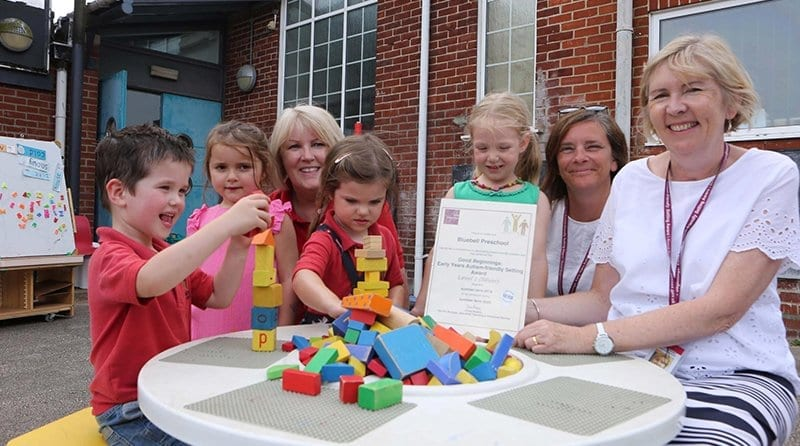 Bluebell Pre-school celebrates after gaining autism accreditation