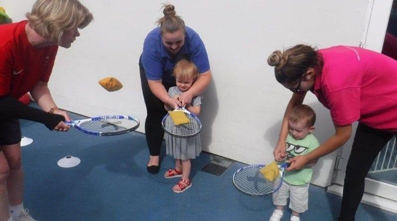 Boys & Girls Nursery enjoy a mini tennis session to celebrate Wimbledon