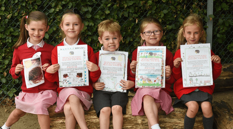 Norwich youngsters raise awareness of plight of hedgehogs in heatwave