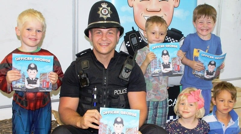PC Smart introduces children to Officer George