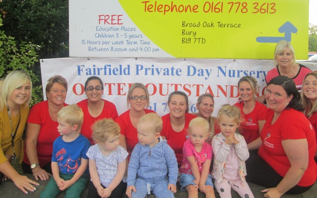 """Fairfields Private Day Nursery receives an """"Outstanding"""" from Ofsted"""