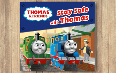 Thomas the Tank Engine educates nursery children on rail safety