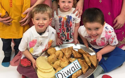 Diwali celebrations at Windmill Hill nursery