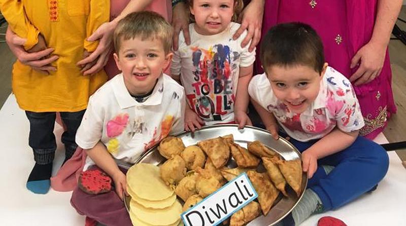 Diwali celebrations at Windmill Hill nursery