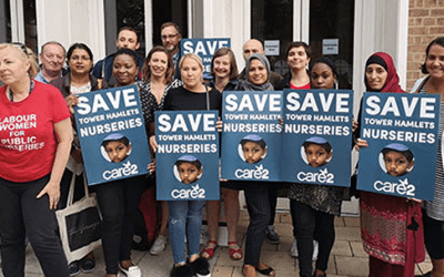 Campaigners rally to save nurseries across the country