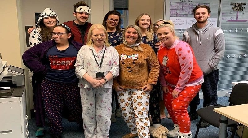 Parenta staff dress up for Children in Need