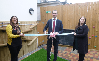 Mayor of Watford Peter Taylor opens new outdoor play area at local nursery