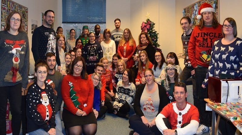 Parenta staff waering Christmas jumpers