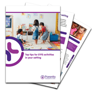 Top tips for EYFS activities in your setting guide banner