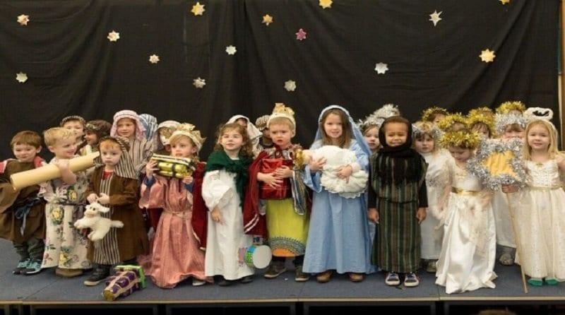 Children taking part in Nativity