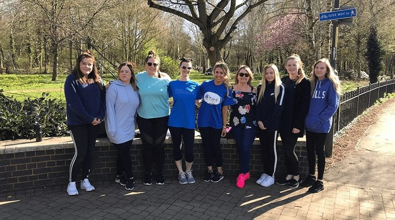 Nursery workers step out together in support of mental health charity
