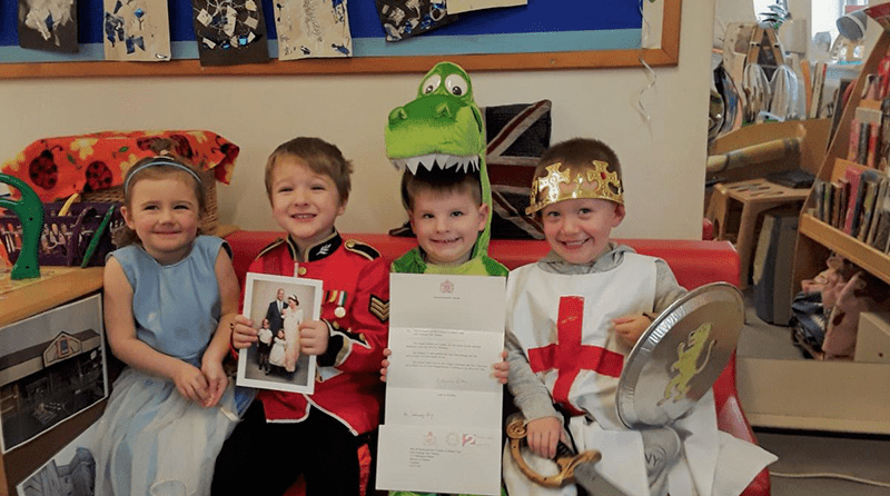 Children at Barrow nursery receive a letter from the Duke and Duchess of Sussex