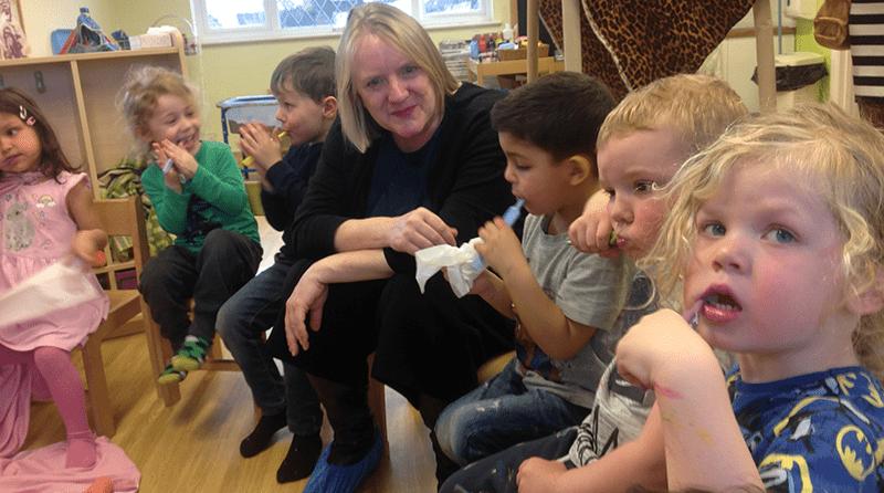 Deputy Mayor sees how 'Mr Teeth' is helping award winning nursery