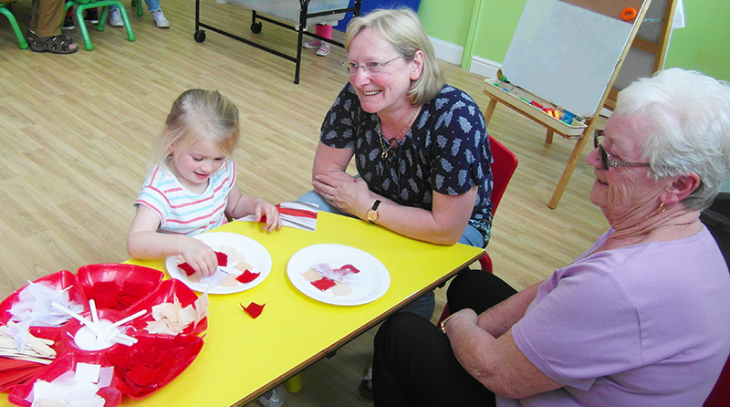 Elmscot Nursery Chester welcomes grandparents to celebrate St. George's Day