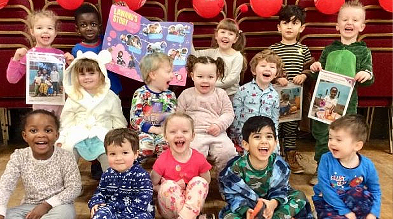 Birmingham nursery raised money for Comic Relief