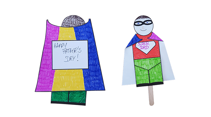 Father's Day stick puppet craft