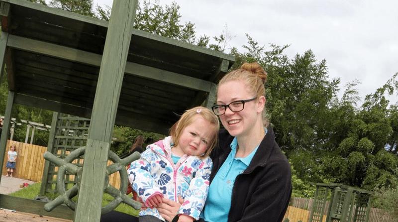 Darlington College students fix nursery's play area