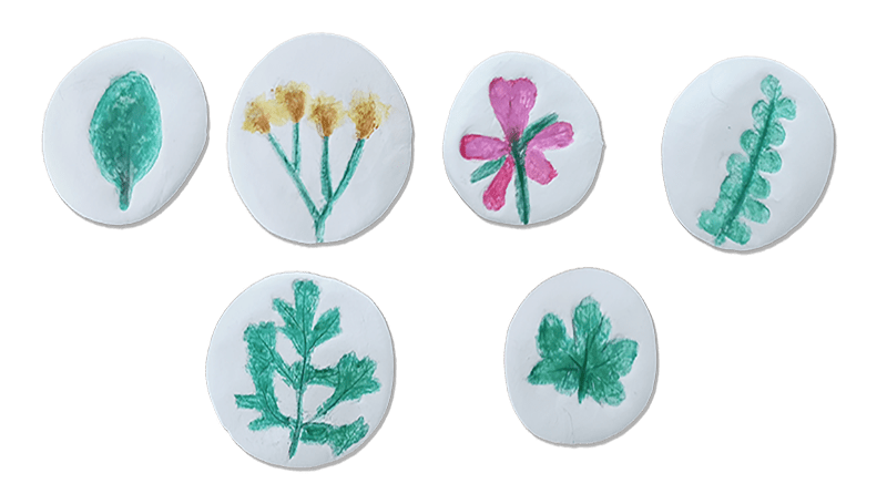 Clay leaf print craft