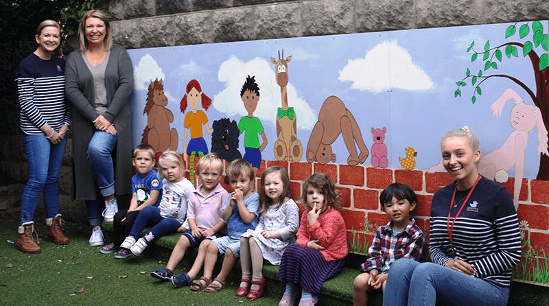 Giant mural brightens up nursery garden