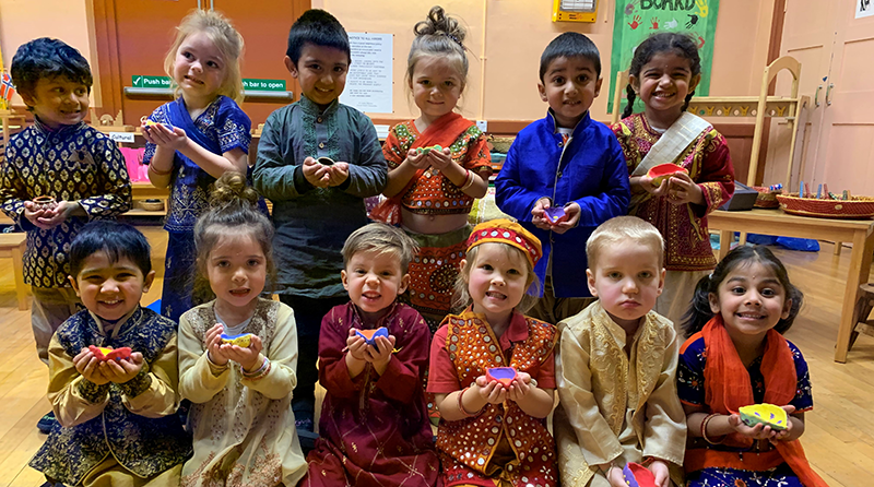 All the children enjoyed dressing up in colourful bright Indian clothes