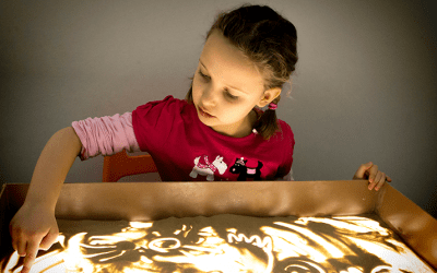 Encouraging mark-making in multisensory ways
