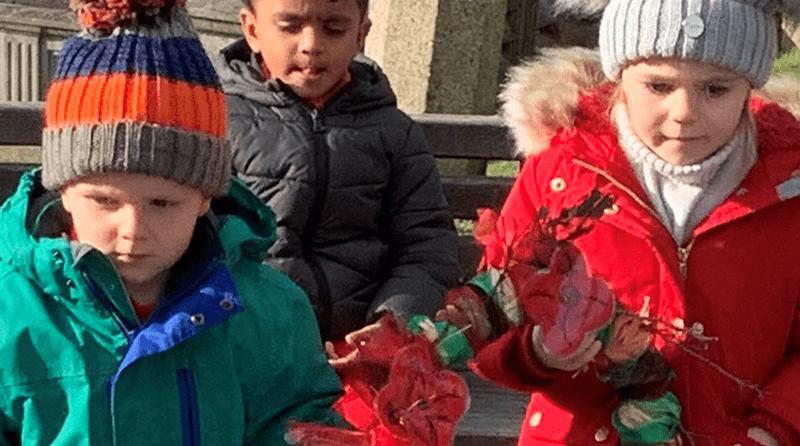 Milton Hall Montessori School respect two-minute silence Monday 11th November 2019