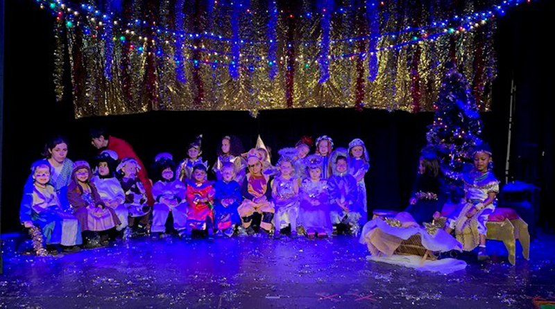 Performance of The Christmas Story by children at Milton Hall Montessori Nursery School