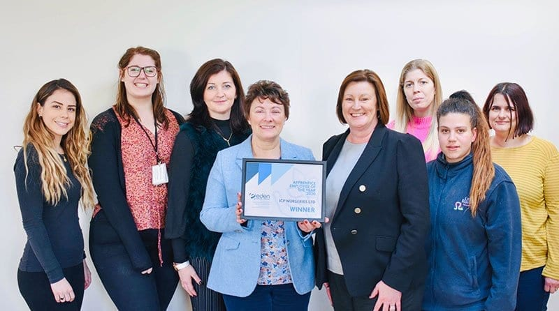 ICP Nurseries selected as the Apprentice Employer of the Year 2020