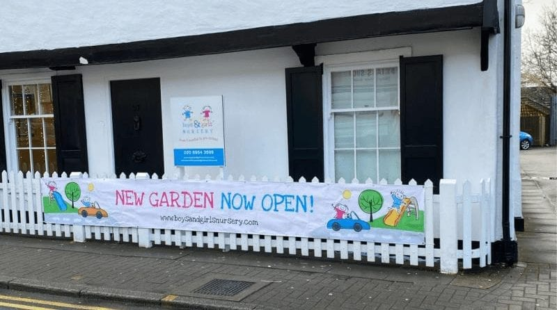 Marilyn Ashton opens new outdoor play area at Stanmore nursery