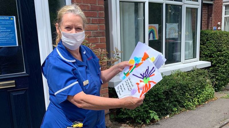 Pre-school's heartfelt message to Portsmouth Care Home