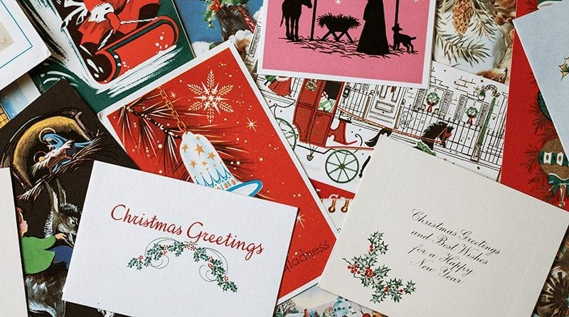 National Christmas card recycle