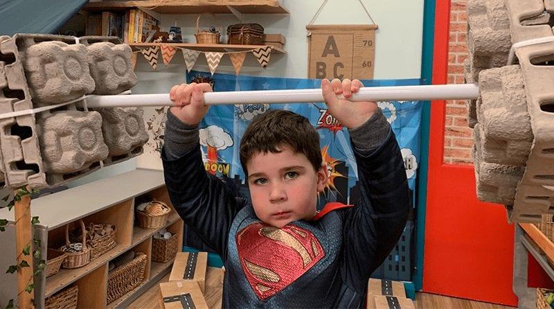 Horn End Nursery superheroes
