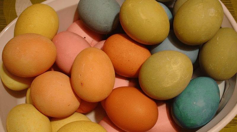 Easter eggs, Natural dye Easter eggs
