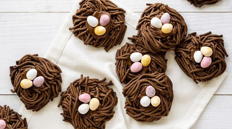 Best ever chocolate nests