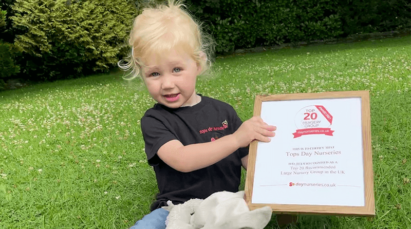 Tops Day Nurseries Awarded the 'Top 20 Top Rated Nursery Group 2021' Award