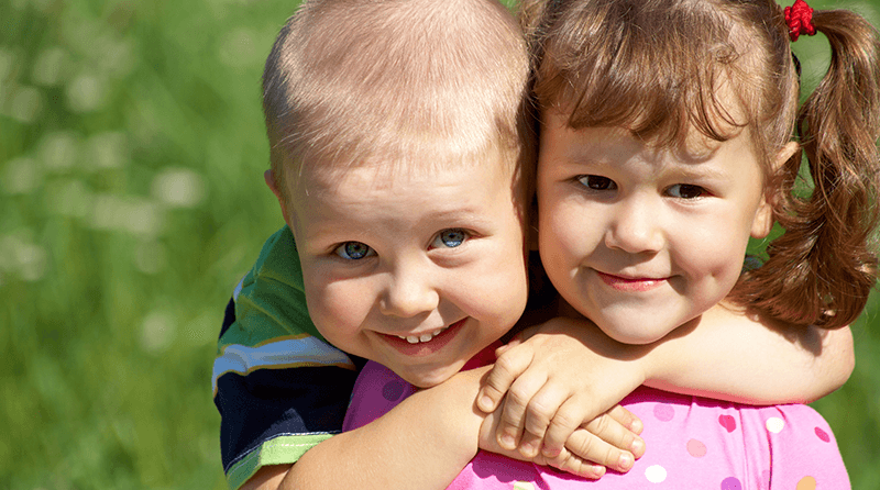 The importance of hugging in child development